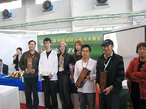Joan McLaren at the 2009 China International Horse Fair in Beijing